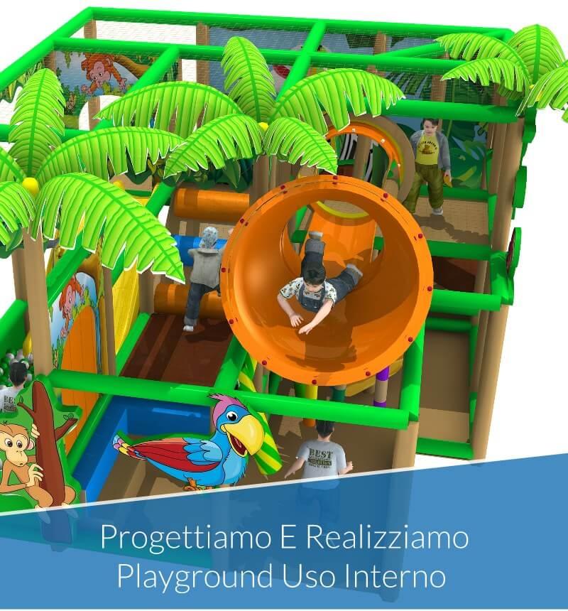 Progettiamo e Realizziamo Strutture e Playground per Uso Interno