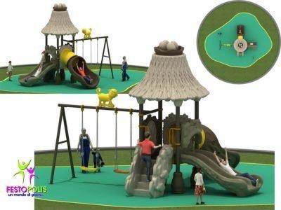 Playground Uso Esterno Capanna -2- FEPE 16018 A