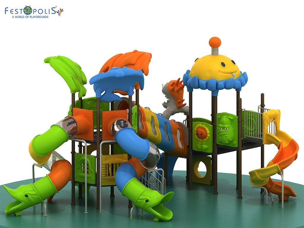 Playground Da Esterno Per Stabilimenti Balneari, Villaggi Turistici, Parchi Gioco e Aree Gioco Esterne. Gioco esterno colorato e divertente.-1-FEPE 170562 B