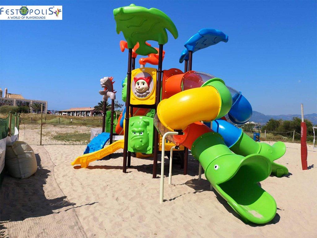 Playground Da Esterno Per Stabilimenti Balneari, Villaggi Turistici, Parchi Gioco e Aree Gioco Esterne. Gioco esterno colorato e divertente.-4-FEPE 170562 B