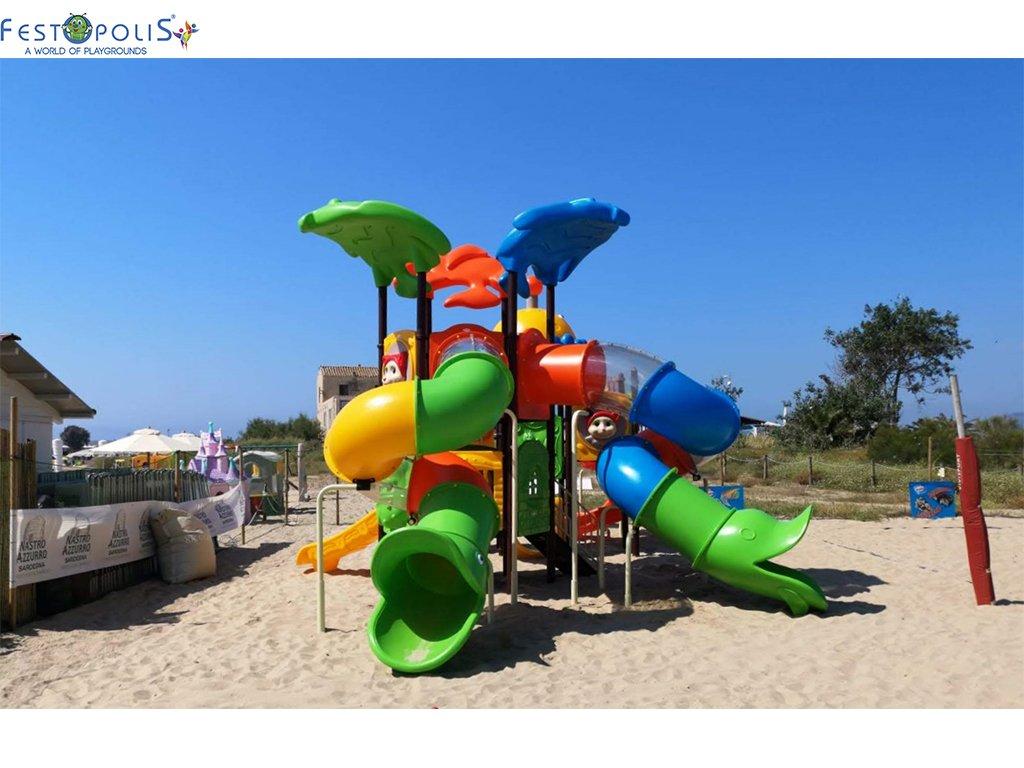 Playground Da Esterno Per Stabilimenti Balneari, Villaggi Turistici, Parchi Gioco e Aree Gioco Esterne. Gioco esterno colorato e divertente.-5-FEPE 170562 B