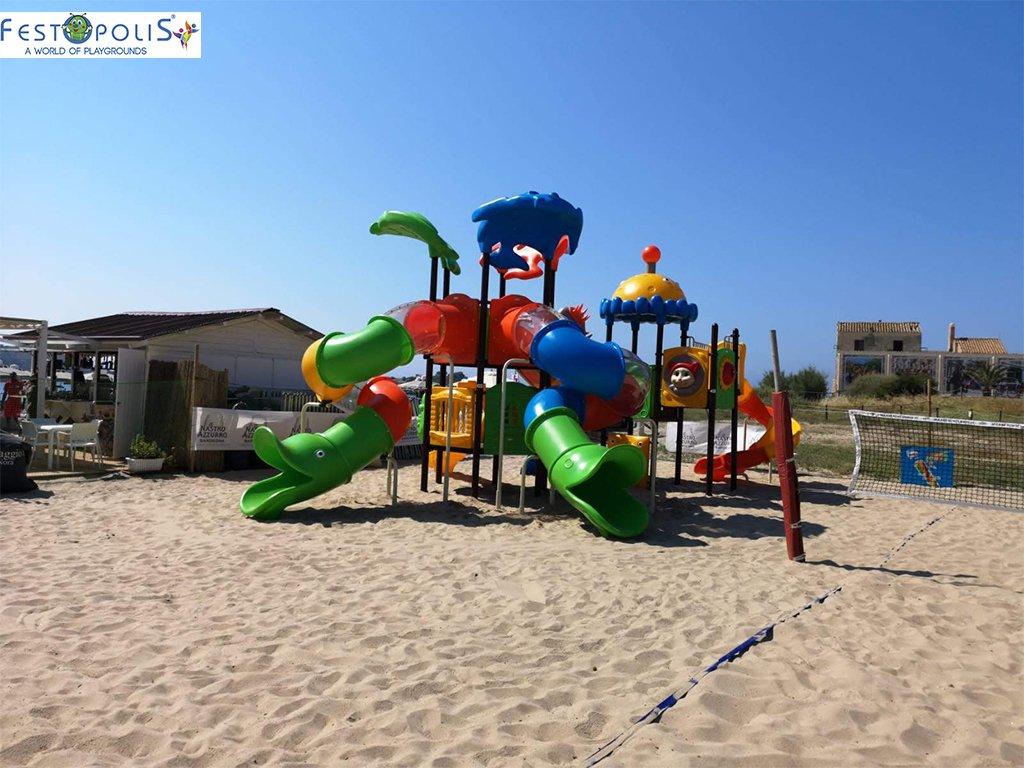 Playground Da Esterno Per Stabilimenti Balneari, Villaggi Turistici, Parchi Gioco e Aree Gioco Esterne. Gioco esterno colorato e divertente.-6-FEPE 170562 B