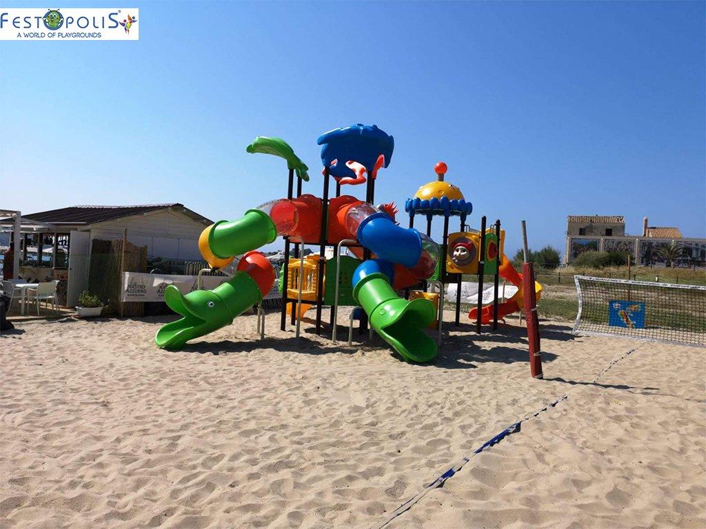 Playground Da Esterno Per Stabilimenti Balneari, Villaggi Turistici, Parchi Gioco e Aree Gioco Esterne. Gioco esterno colorato e divertente.-7-FEPE 170562 B
