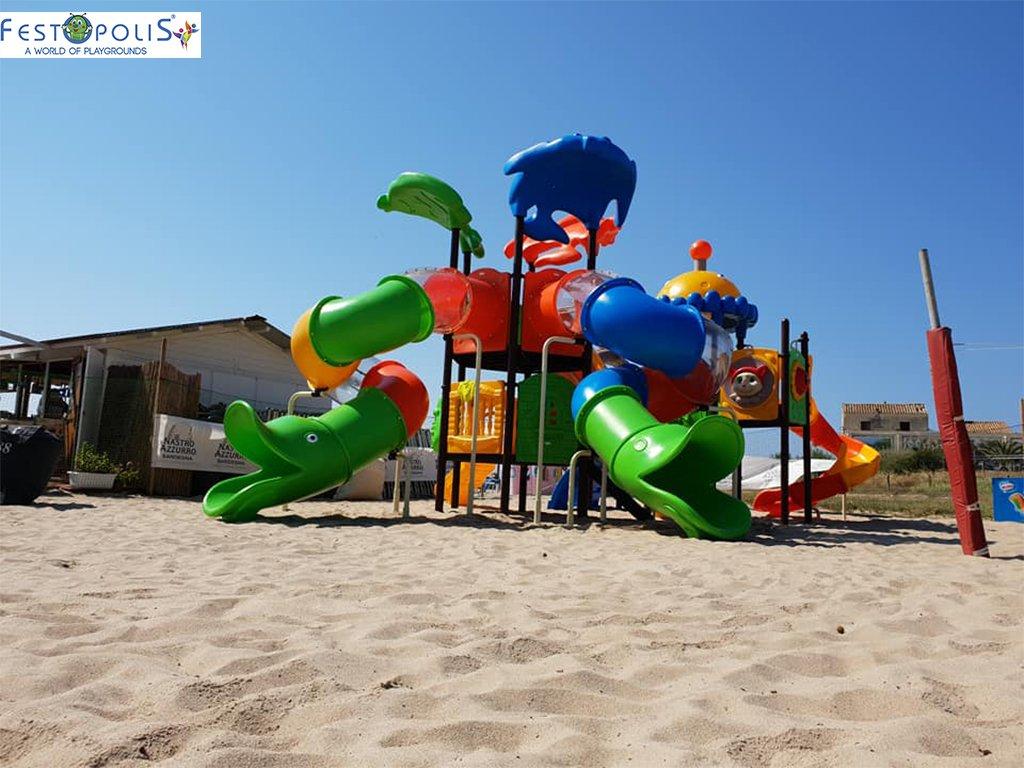 Playground Da Esterno Per Stabilimenti Balneari, Villaggi Turistici, Parchi Gioco e Aree Gioco Esterne. Gioco esterno colorato e divertente.-8-FEPE 170562 B