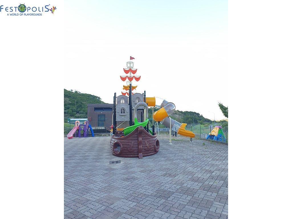 Playground Da Esterno Per Stabilimenti Balneari, Villaggi Turistici e Aree Gioco Esterne. Bellissima grafica caratterizzata dal mondo marino.-1-FEPE 17120 A