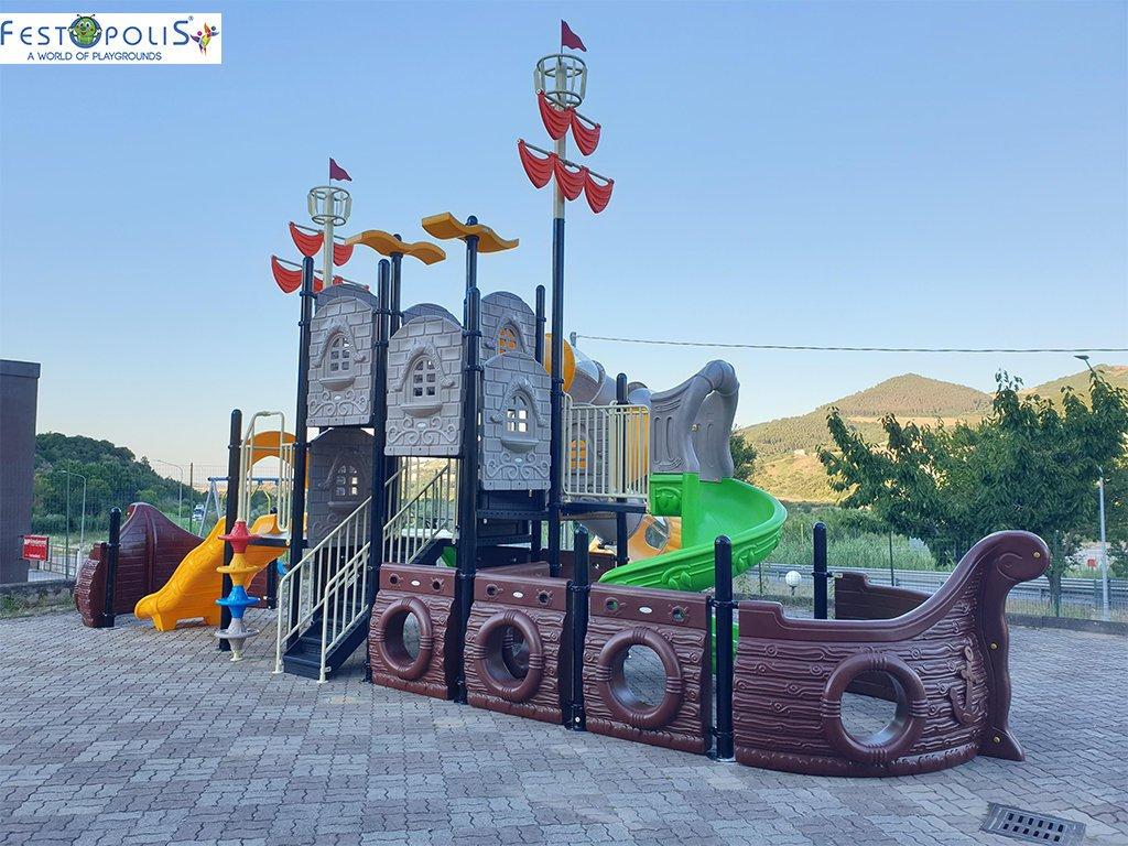 Playground Da Esterno Per Stabilimenti Balneari, Villaggi Turistici e Aree Gioco Esterne. Bellissima grafica caratterizzata dal mondo marino.-3-FEPE 17120 A