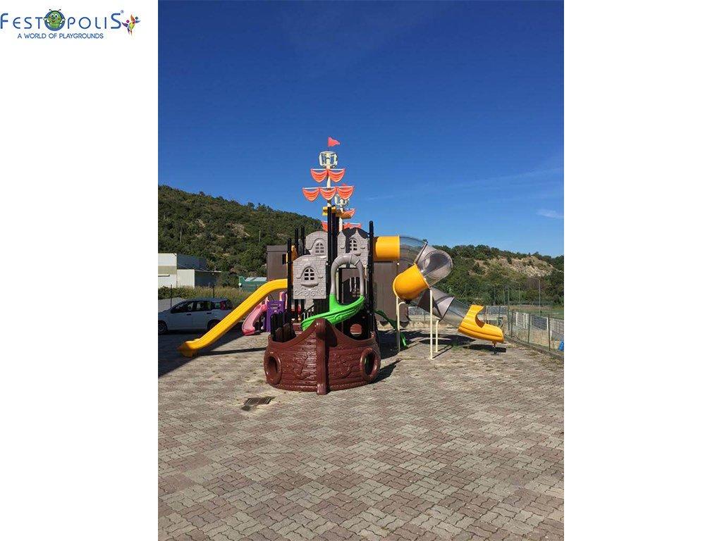 Playground Da Esterno Per Stabilimenti Balneari, Villaggi Turistici e Aree Gioco Esterne. Bellissima grafica caratterizzata dal mondo marino.-9-FEPE 17120 A