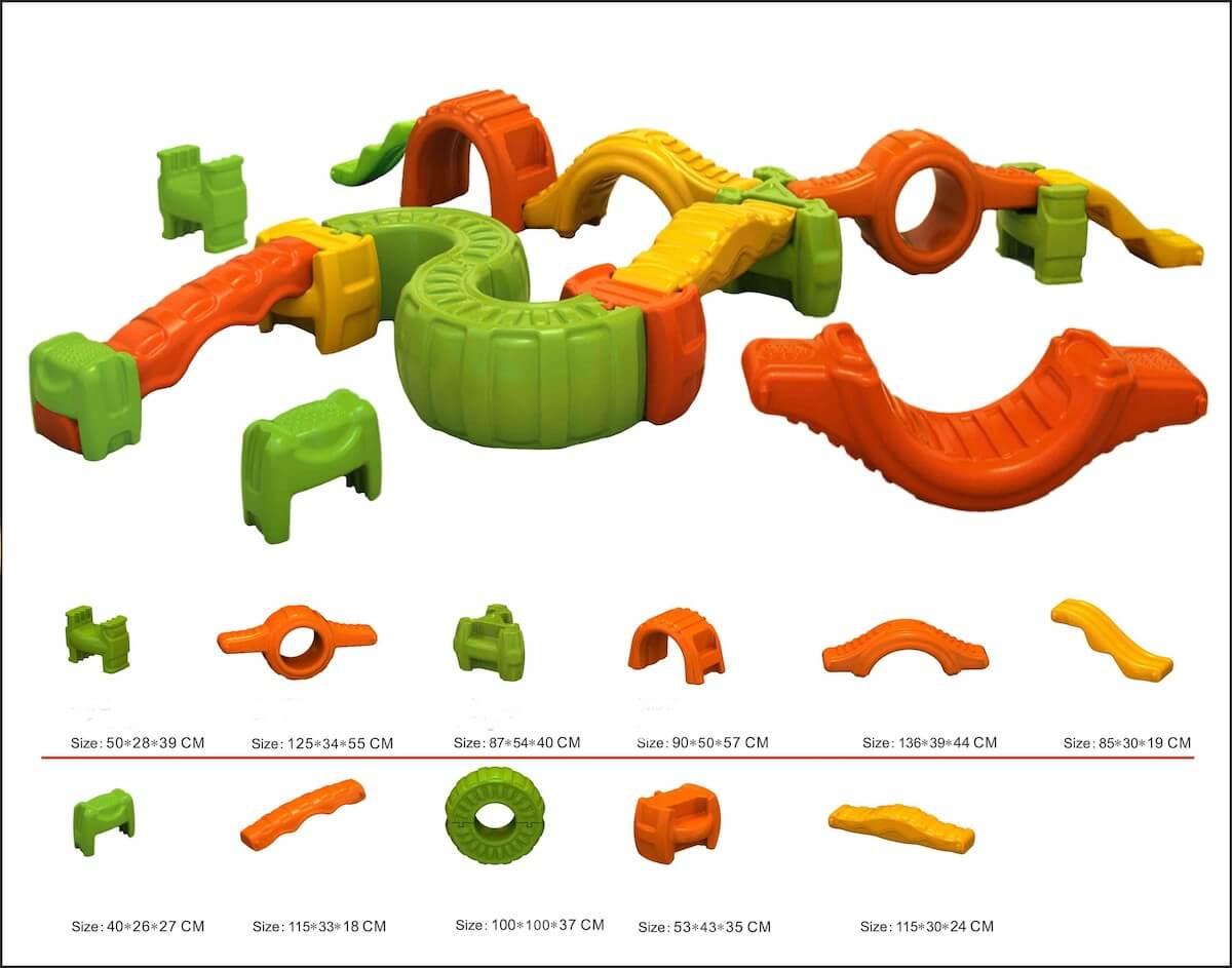 Gioco in plastica percorso modulare sport Festopolis FEGP 084 - 2