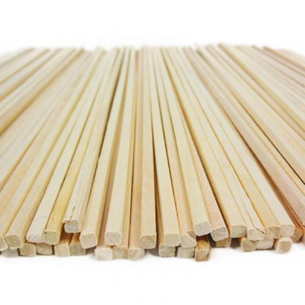 Attrezzature Dolciarie Bastoncini quadrati in legno per zucchero filato Festopolis FEAD 003