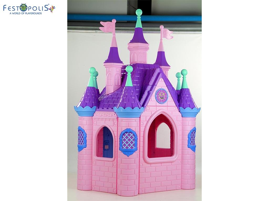 Super castello di Barbie colorato e divertente. Un vero castello delle principesse colorato e divertente ideale per aree gioco interne ed esterne.-1-FEGP 014