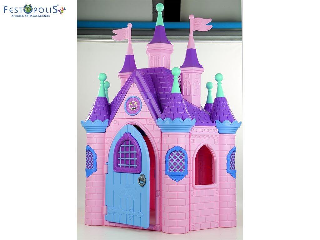 Super castello di Barbie colorato e divertente. Un vero castello delle principesse colorato e divertente ideale per aree gioco interne ed esterne.-3-FEGP 014
