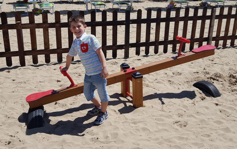 Giochi per esterno Bilico in legno due postazioni Festopolis FEGE 2201