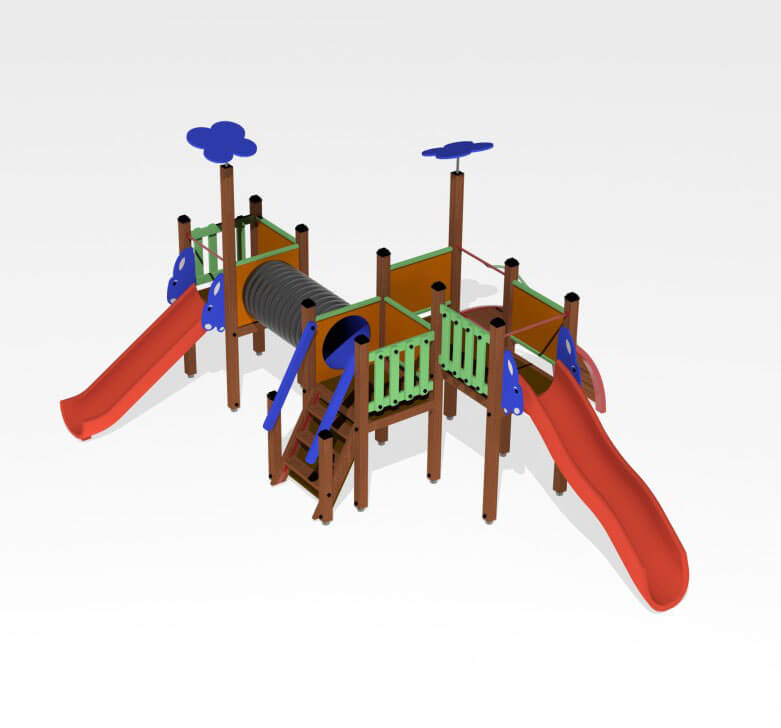 Giochi per esterno Playground in legno Festopolis FEGE 2610