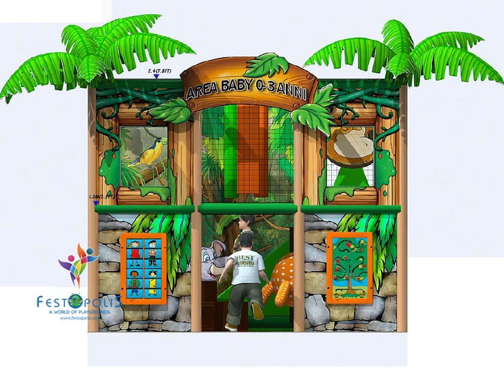 Playground uso interno Baby Jungle FEPI 023 B 10
