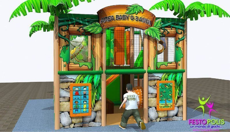 Playground uso interno Baby Jungle Festopolis FEPI-023 B 11