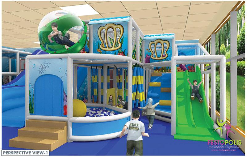 Playground uso interno Chiccolandia Festopolis FEPI-036 Design-1