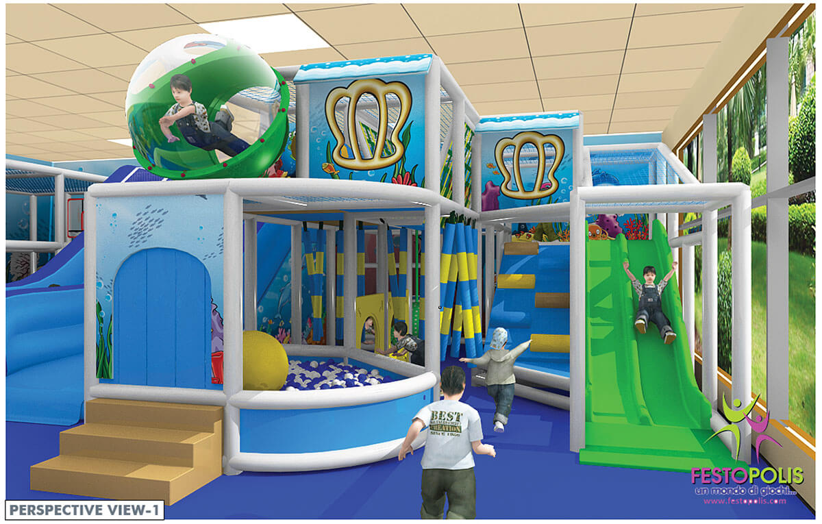 Playground uso interno Chiccolandia Festopolis FEPI-036 Design-1