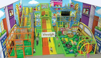 Playground uso interno Playground Rainbow Festopolis FEPI-037 3
