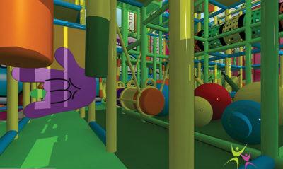 Playground uso interno Playground Rainbow Festopolis FEPI-037 5