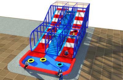 Playground uso interno Scivolo con ciambelle Festopolis FEPI-055