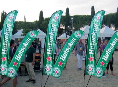 Pubblicitari Bandiera a pinna Festopolis FEPB-014