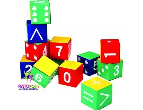Gioco Per Interno Set Dodici Cubi Soffici FEAS-041
