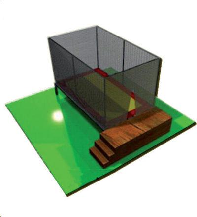 Tappeti Elastici Tappeto elastico rettangolare 1 posto Festopolis FETE 001