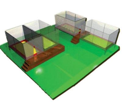 Tappeti Elastici Tappeto elastico rettangolare 2 posti Festopolis FETE 002