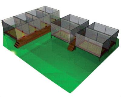 Tappeti Elastici Tappeto elastico rettangolare 4 posti Festopolis FETE 004