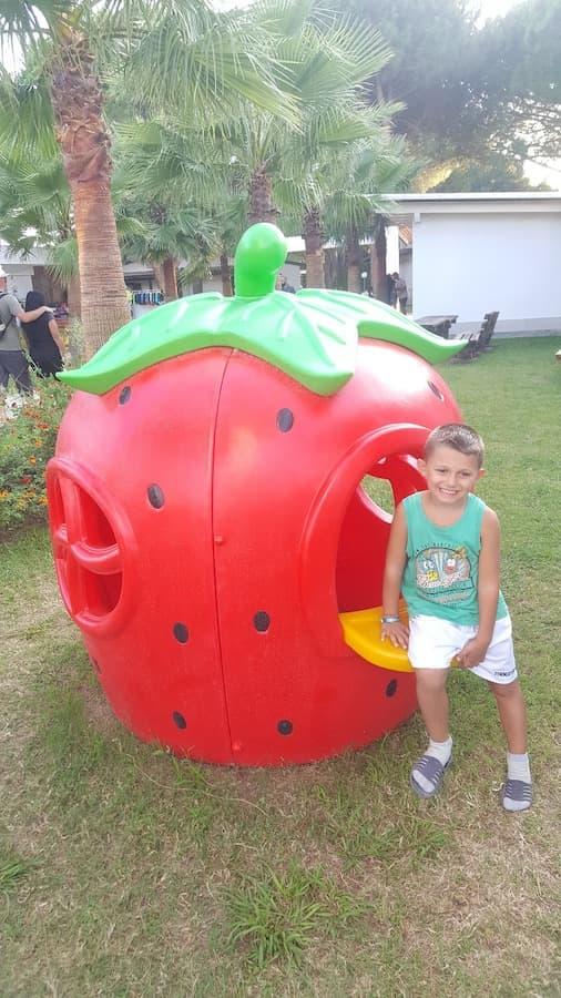 gioco per bambini in plastica casetta fragolina fegp 100 03