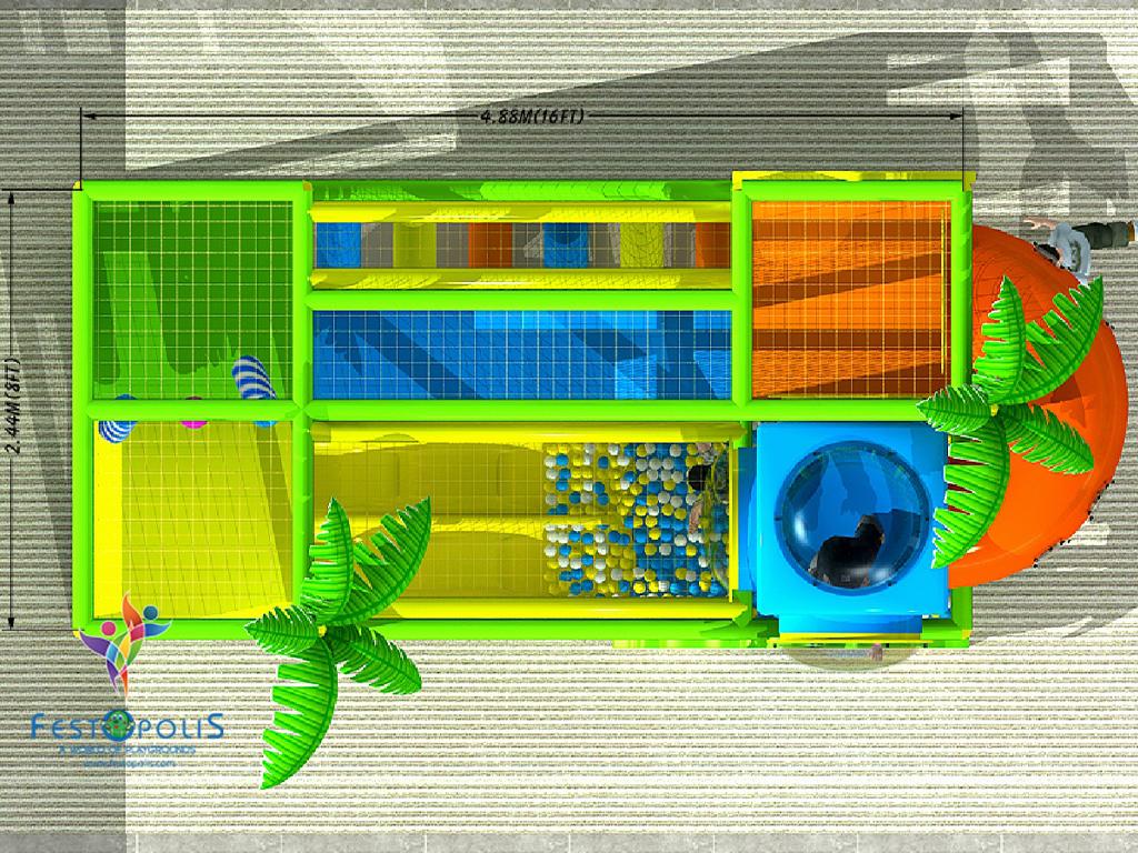 playground uso interno Wonderland Dinopolis FEPI 008 B 7