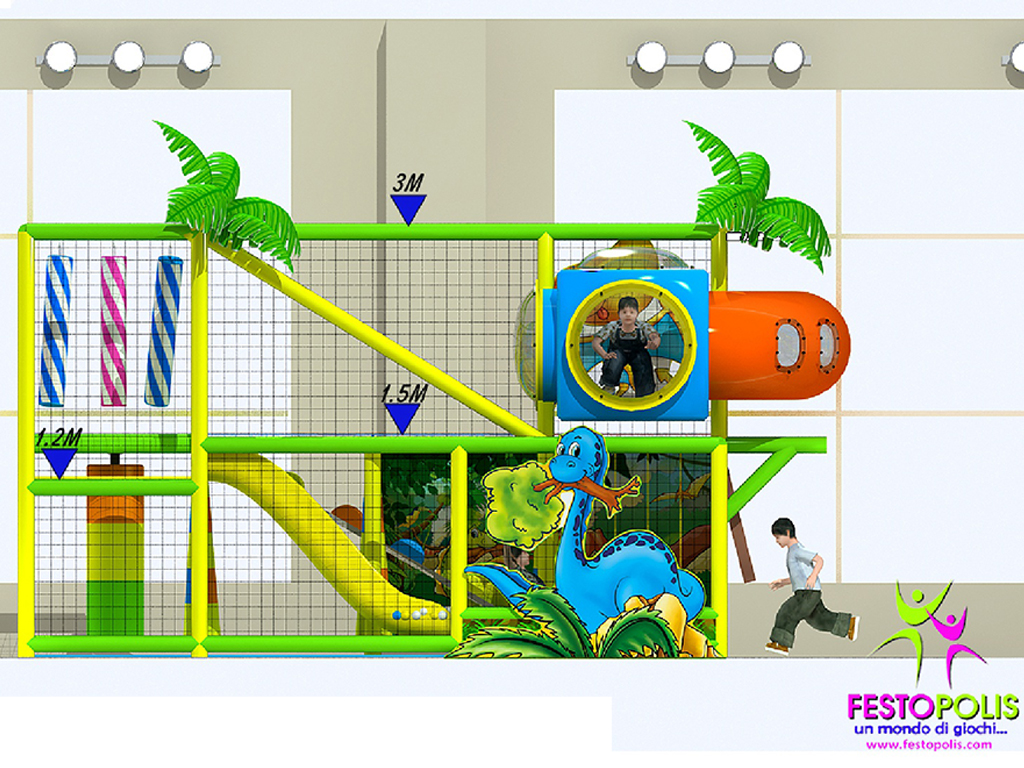 playground uso interno Wonderland Dinopolis FEPI 008 B 8