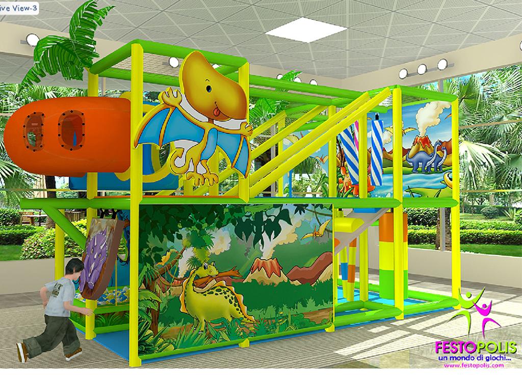 playground uso interno Wonderland Dinopolis FEPI 008 B 9