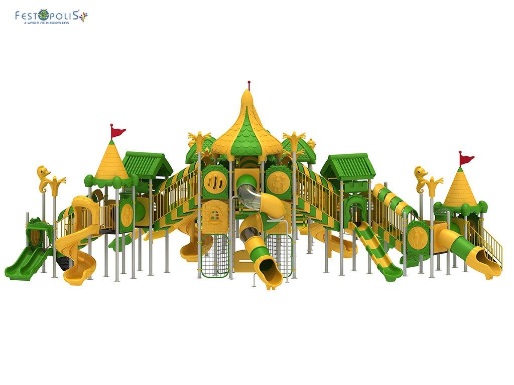 Playground Da Esterno Per Stabilimenti Balneari, Villaggi Turistici, Parchi Gioco e Aree Gioco Esterne. Gioco esterno con colorata grafica natura.-1-FEPE 008