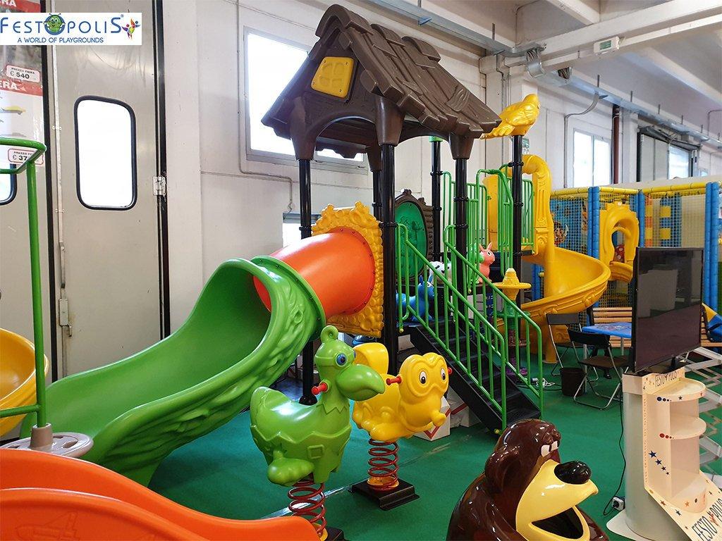 Playground Da Esterno Per Stabilimenti Balneari, Villaggi Turistici, Parchi Gioco e Aree Gioco Esterne. Gioco da esterno con grafica tema foresta.-3-FEPE 14601 B