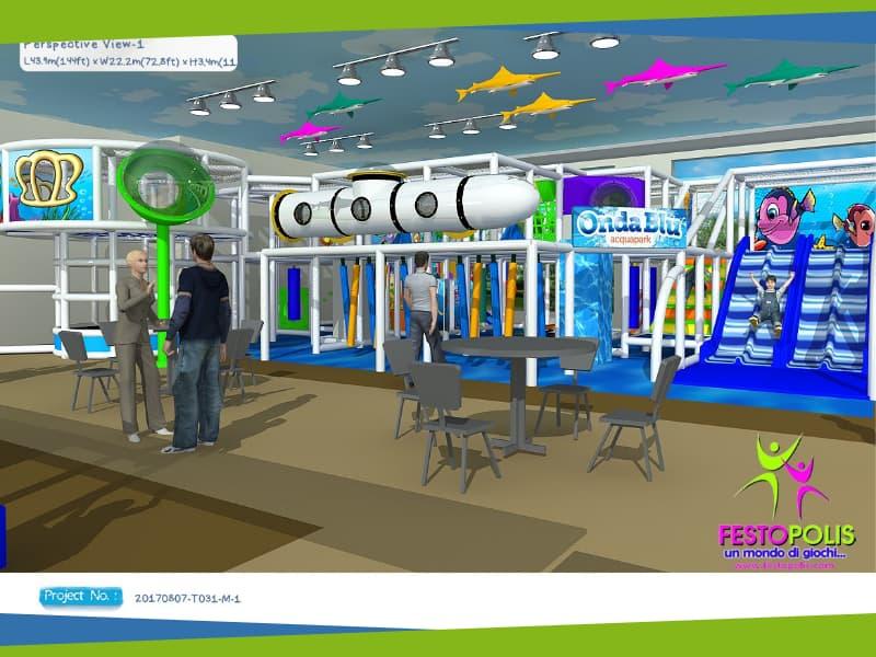 progettazione area giochi parco acquatico onda blu