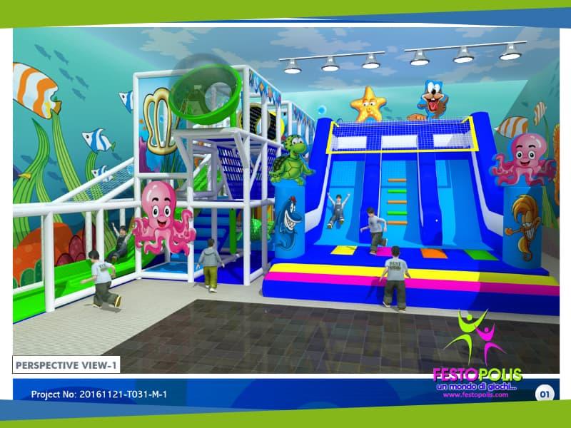 progettazione parco giochi al chiuso carrara