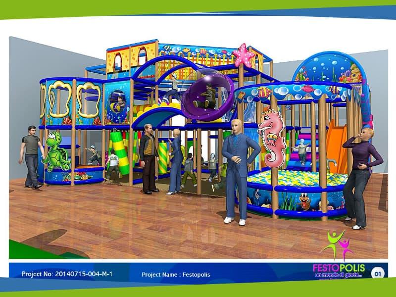 progettazione parco giochi al coperto gallicchio