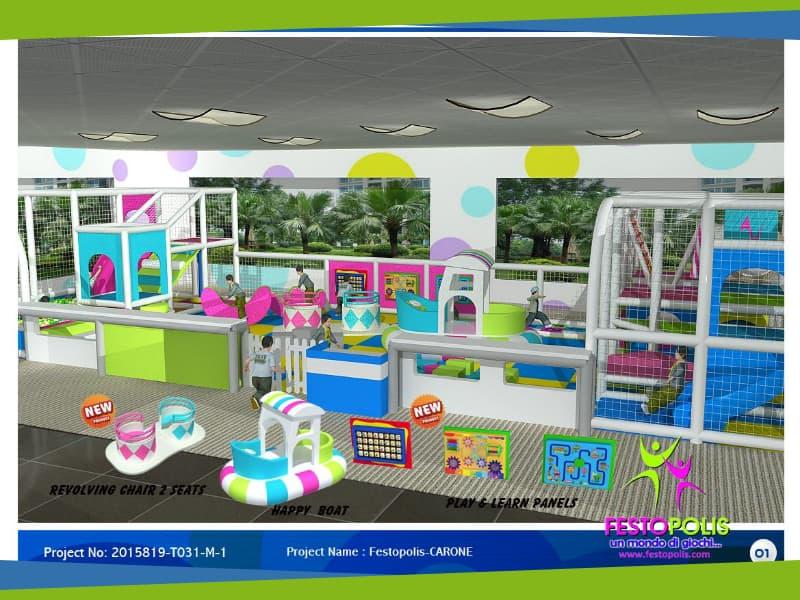 progettazione parco giochi al coperto