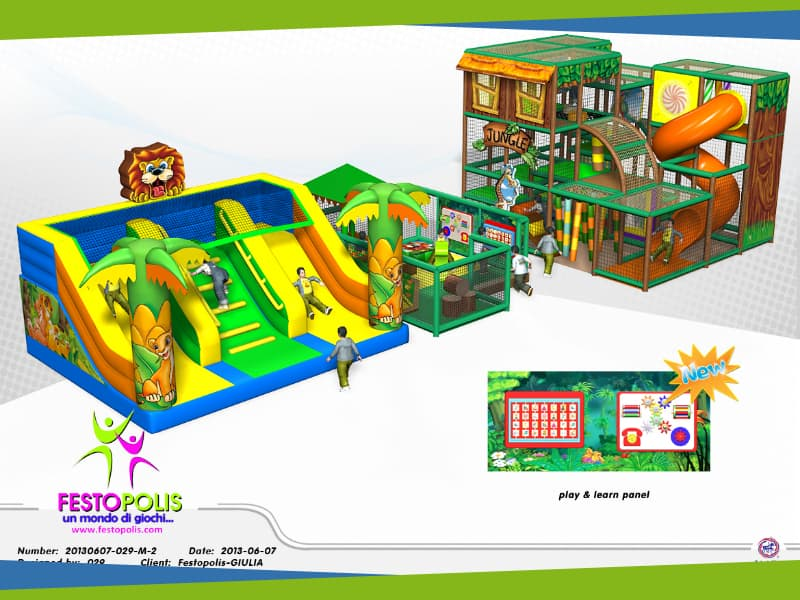 progettazione parco giochi coperto hakunamatata