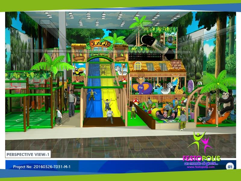 progettazione parco giochi maxi jungle
