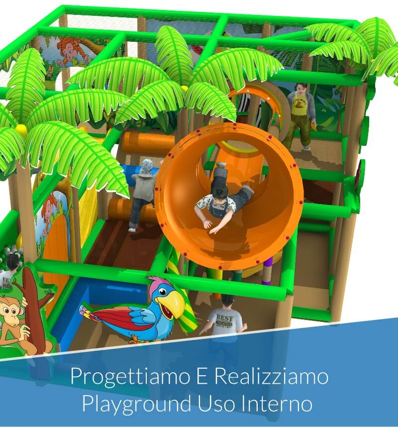 Playground per Uso Interno Per Ludoteche, Asili Nido, Centri Gioco