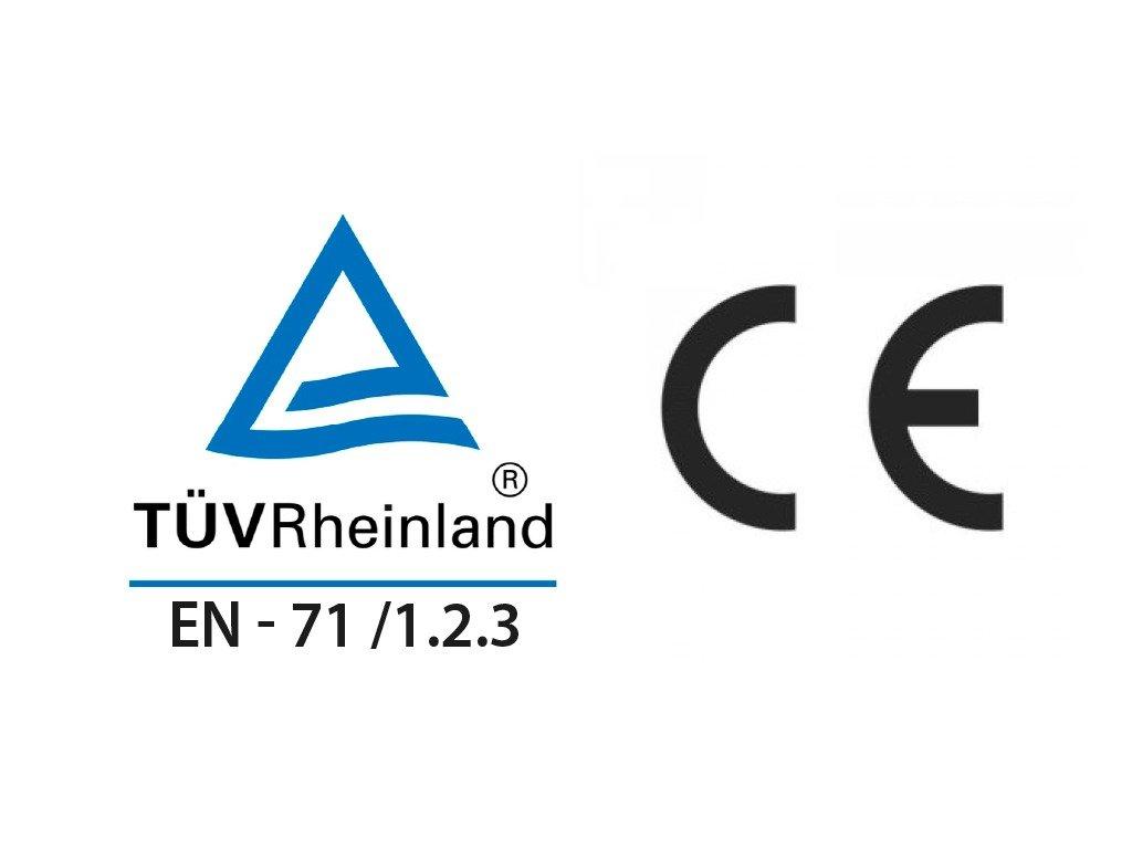 TUV EN.71 1.2.3 CE