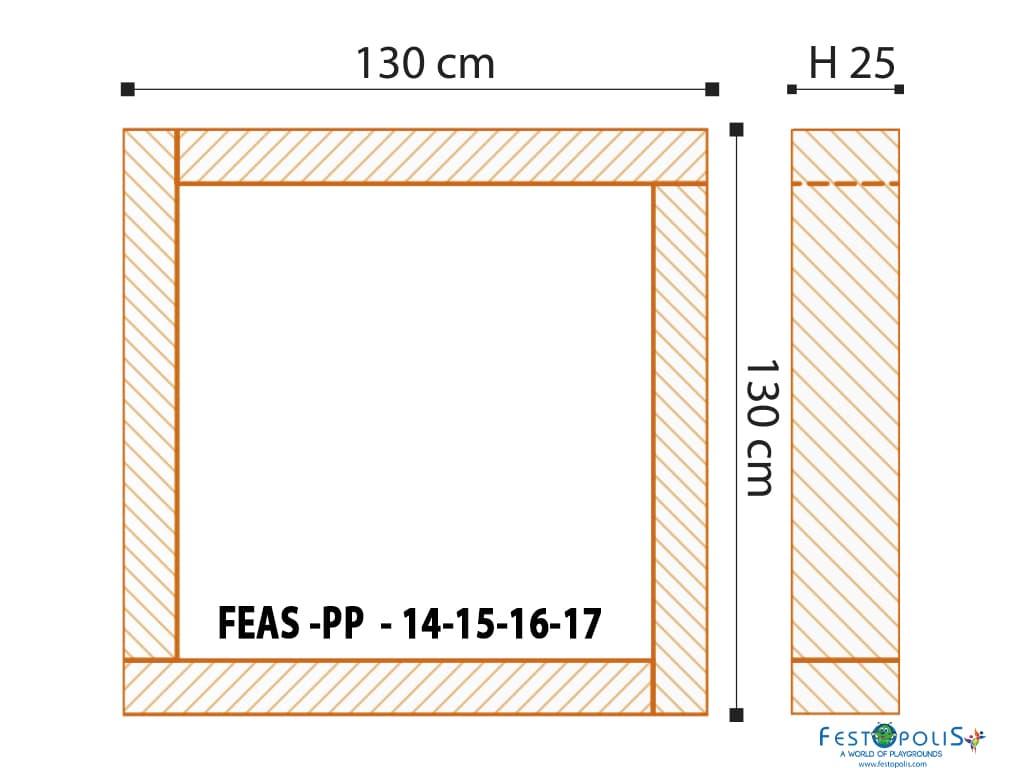 giochi morbidi per area soft piscina con palline bambini feas pp2014 misure