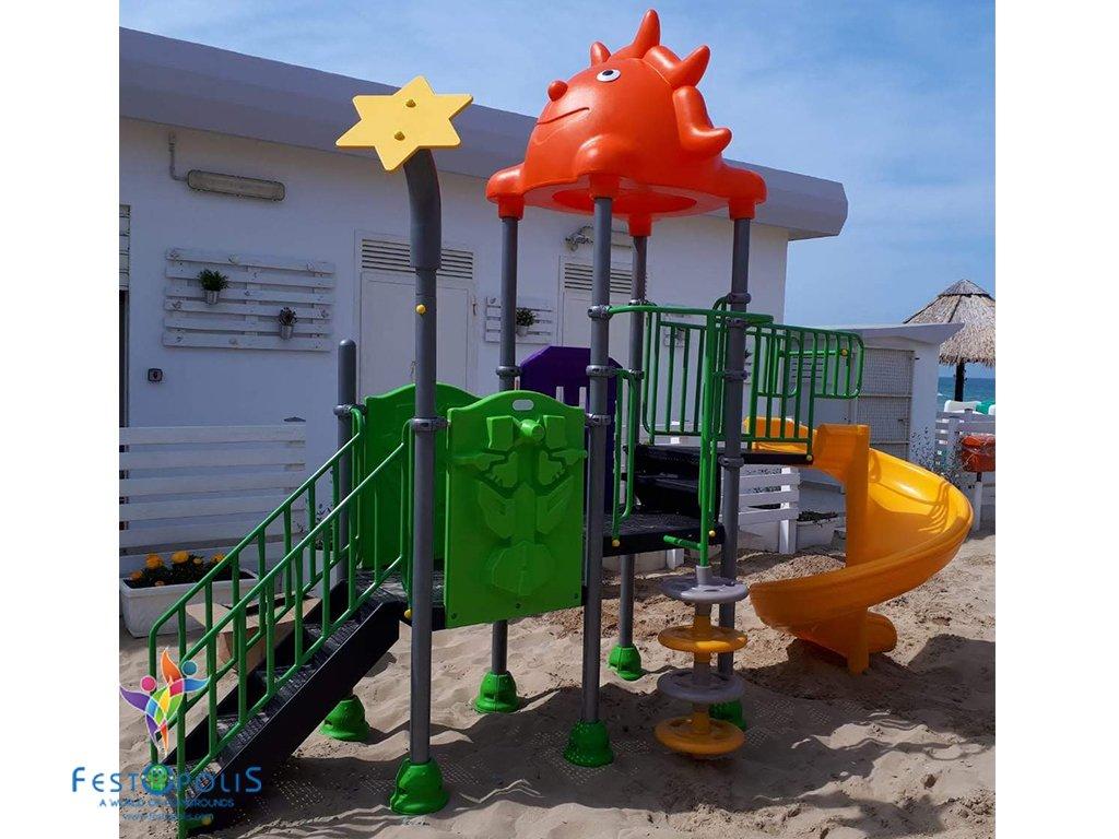 mini playground esterno natura FEPE-16212 BN 1 2