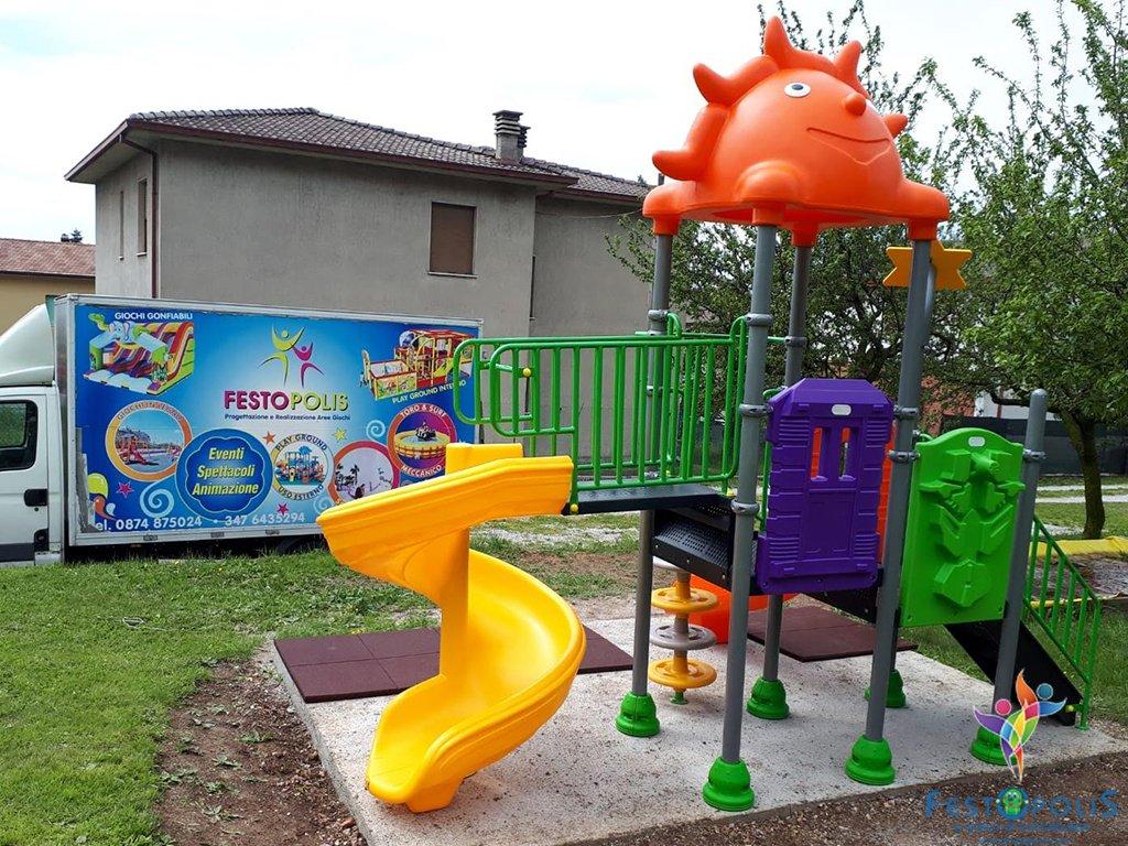 mini playground esterno natura FEPE-16212 BN 4