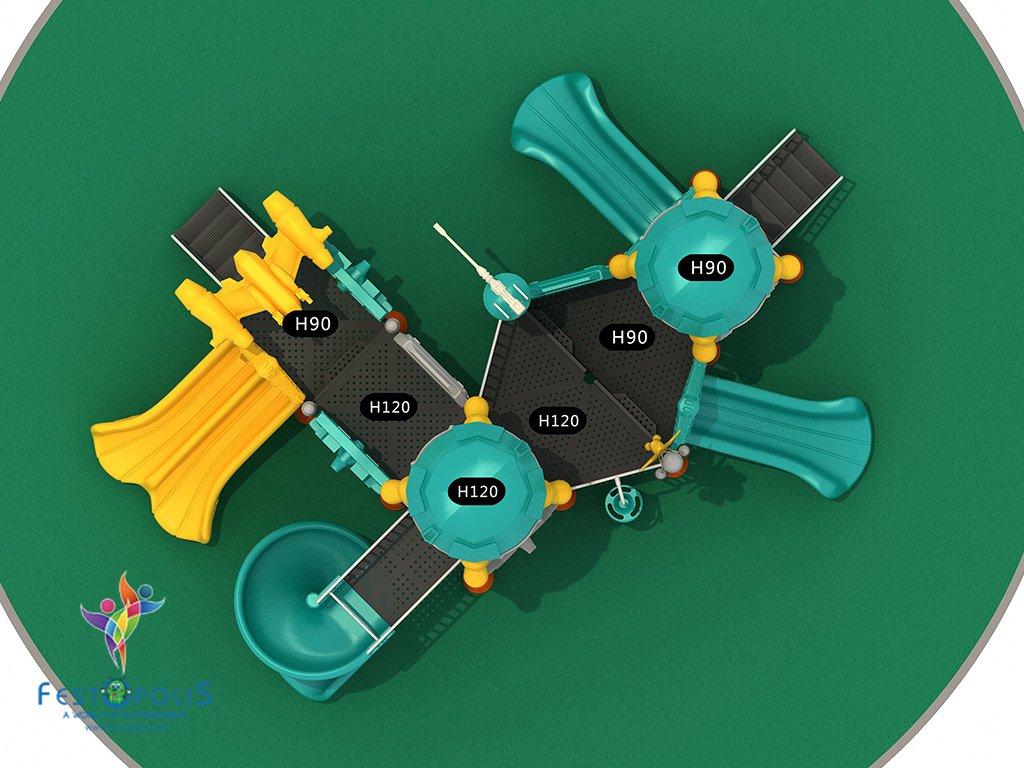 mini playground esterno spazio FEPE 17184 3