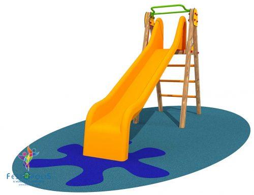 Altalena In Legno Con Arrampicata Per Bambini FEGE-L1545