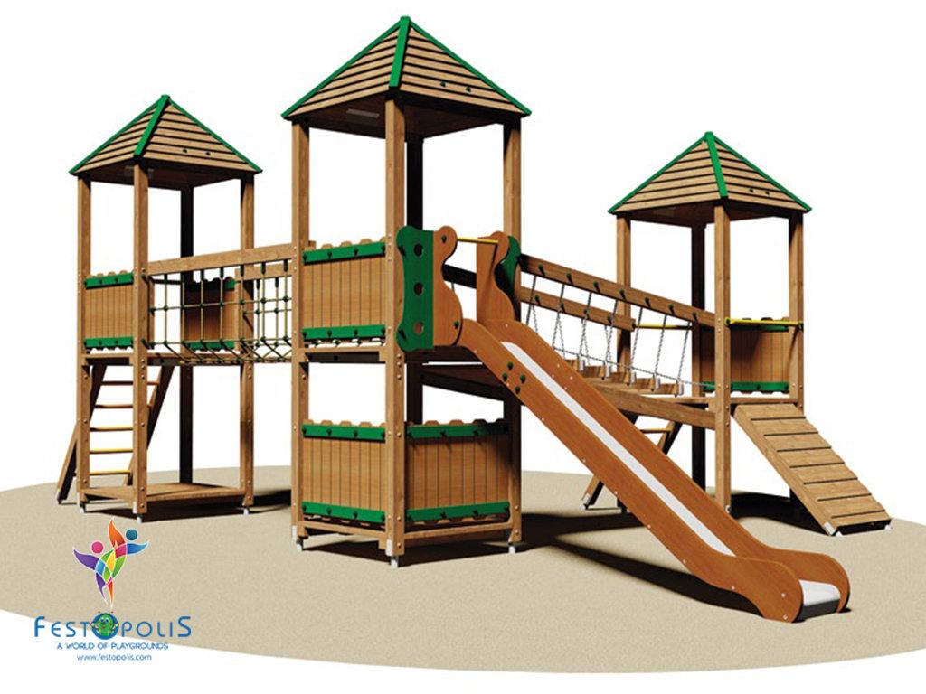 Gioco in legno per esterno FEGE-L406-A