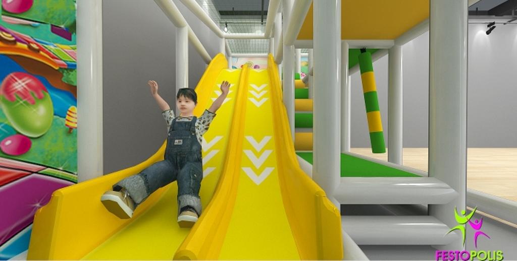 FEPI 038 playground da interno modello Caramelle SITO2
